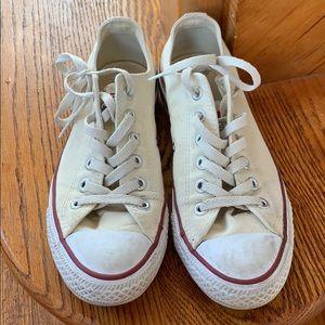 Ladies Cream Converse